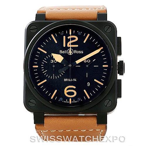 7308 Bell & Ross Heritage Automatic Mens Watch BR-03-94 SwissWatchExpo
