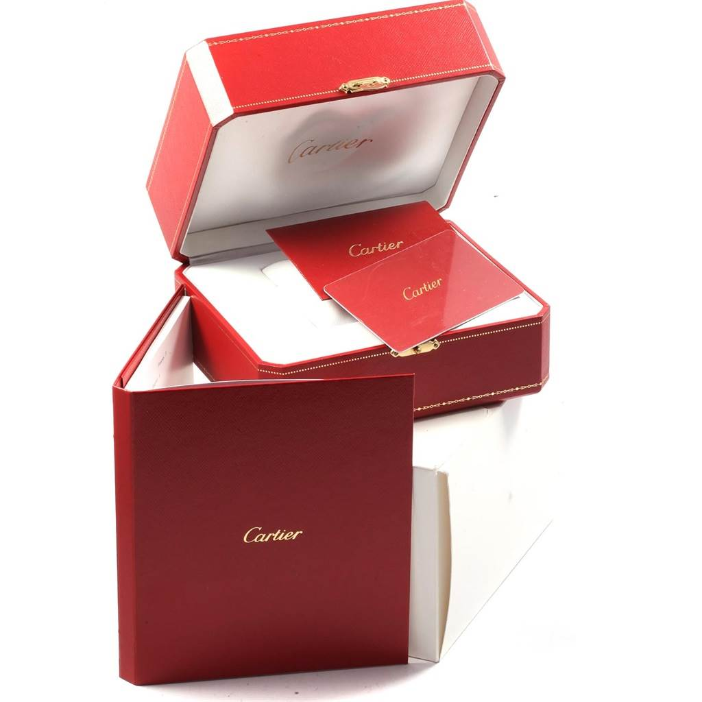 Cartier Calibre DiverCarbon Rose Gold Rubber Watch W2CA0004 Box Card SwissWatchExpo