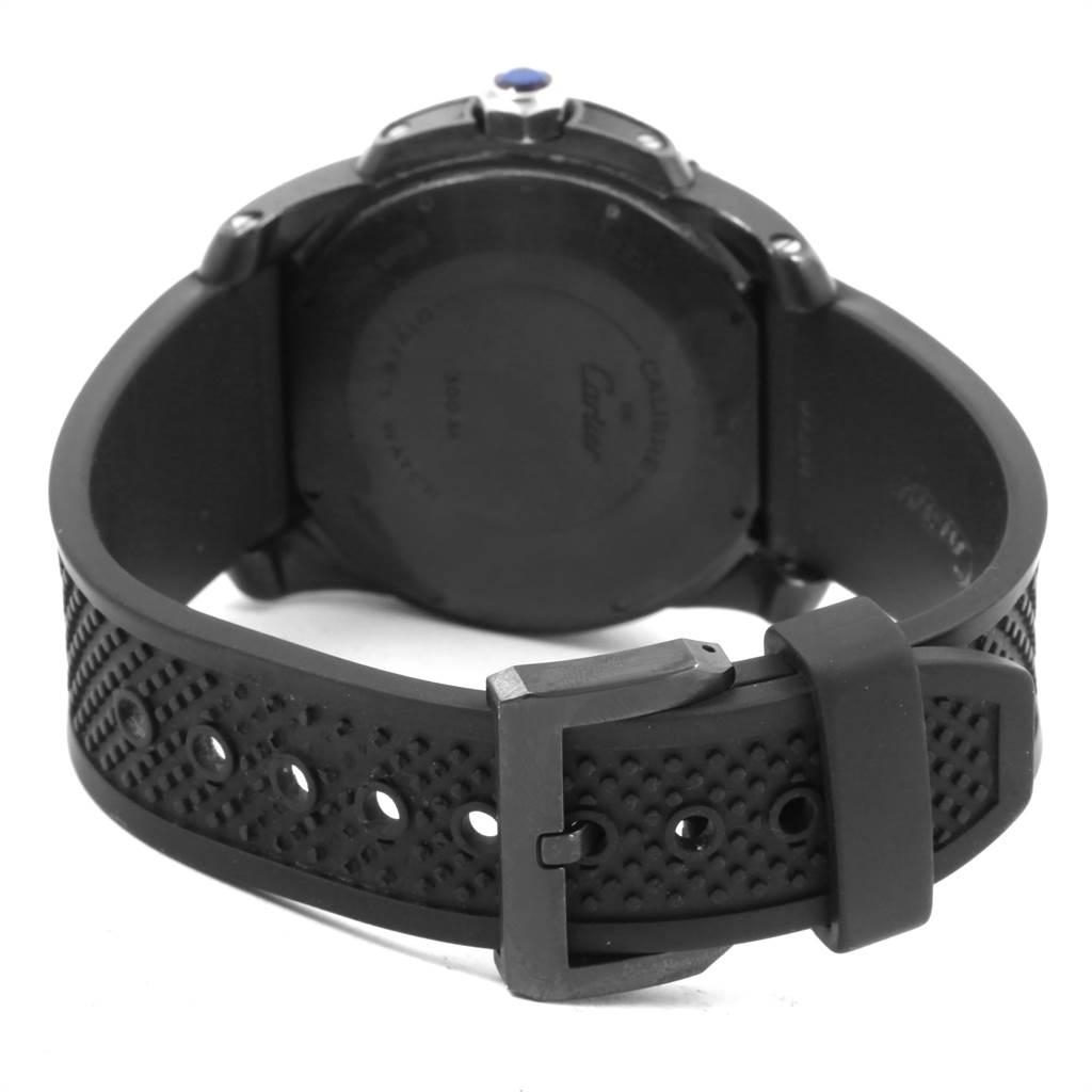 Cartier Calibre Diver Black Rubber Steel Mens Watch WSCA0006 Box Papers SwissWatchExpo