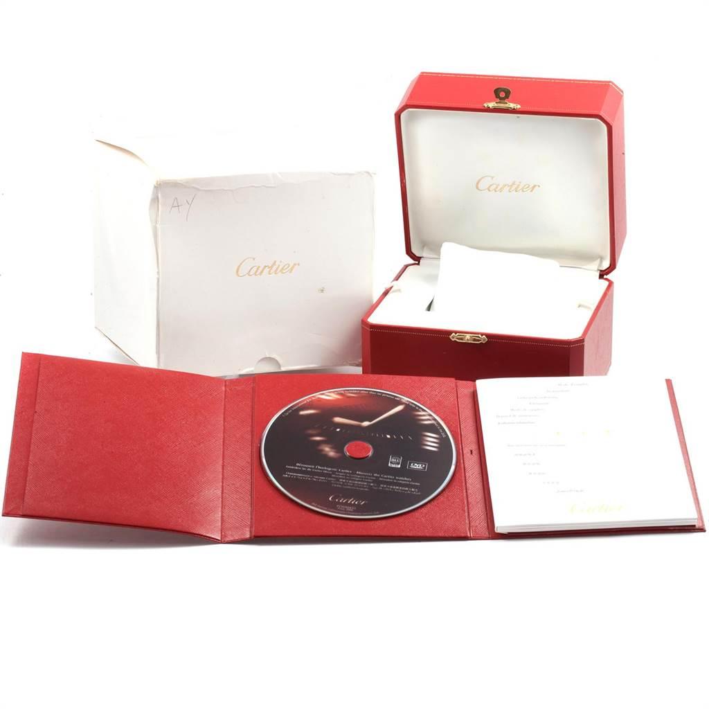 Cartier Calibre Diver Carbon Rose Gold Rubber Strap Watch W2CA0004 SwissWatchExpo