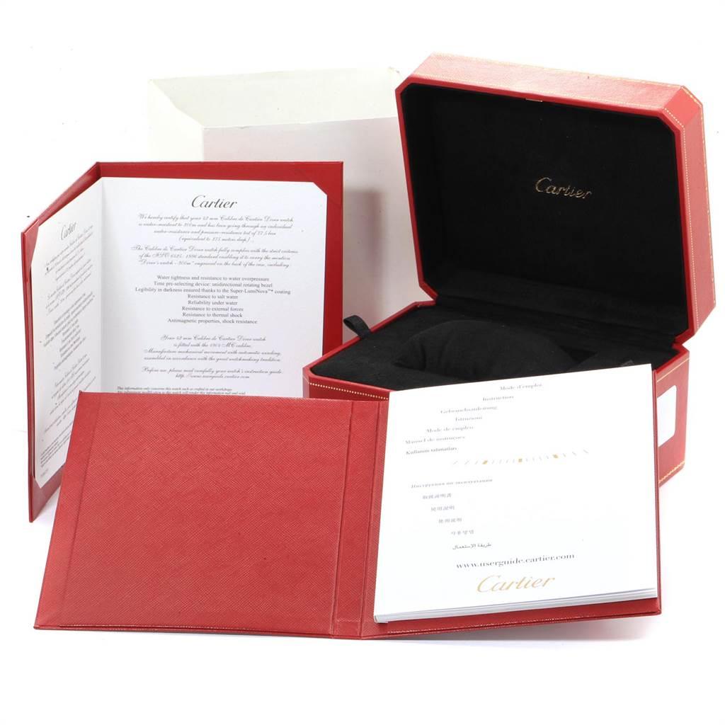 Calibre De Cartier Black Dial Automatic Steel Mens Watch W7100057 SwissWatchExpo
