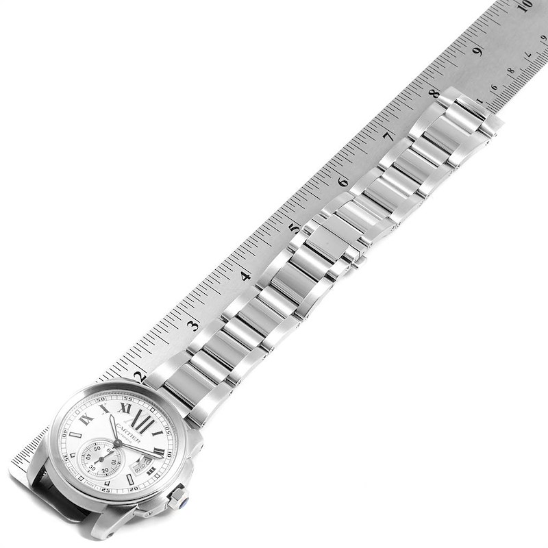 Cartier Calibre Silver Dial Steel Automatic Mens Watch W7100015 SwissWatchExpo