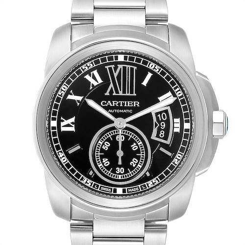 Photo of Cartier Calibre Black Dial Automatic Steel Mens Watch W7100016