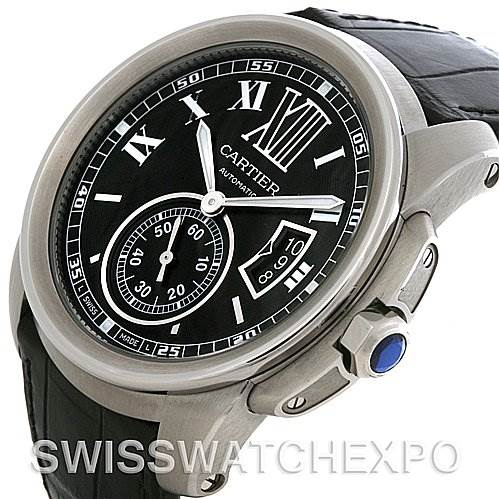 4261 Cartier Calibre Steel Automatic Mens Watch W7100014 SwissWatchExpo