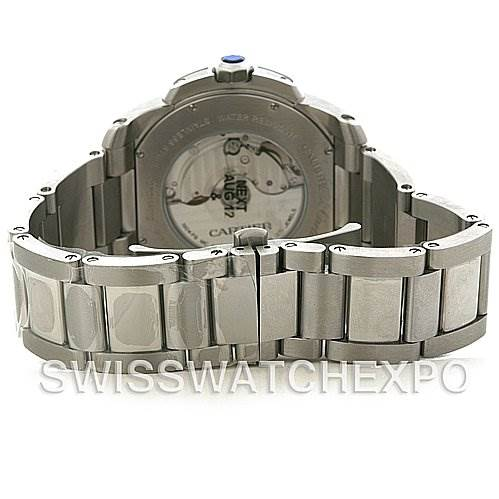 4259 Cartier Calibre Steel Automatic Mens Watch W7100016 SwissWatchExpo