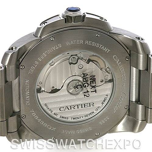 4260 Calibre De Cartier Stainless Steel Automatic mens Watch W7100015 SwissWatchExpo