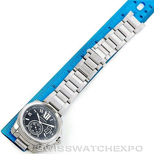6823 Calibre De Cartier Stainless Steel Automatic Mens Watch W7100016 SwissWatchExpo