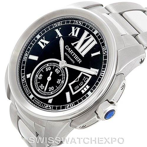 7043 Calibre De Cartier Steel Mens Watch W7100016 Unworn SwissWatchExpo