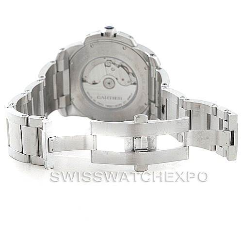 7037 Calibre De Cartier Stainless Steel Automatic mens Watch W7100015 SwissWatchExpo