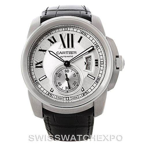 8171 Calibre De Cartier Steel Automatic Mens Watch W7100037 Unworn SwissWatchExpo