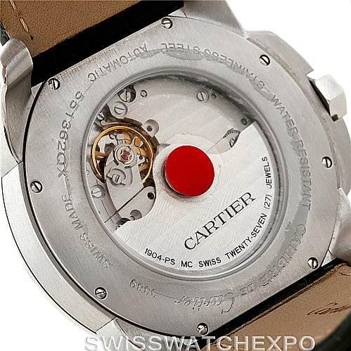 Calibre De Cartier Steel Automatic Mens Watch W7100037 Unworn SwissWatchExpo