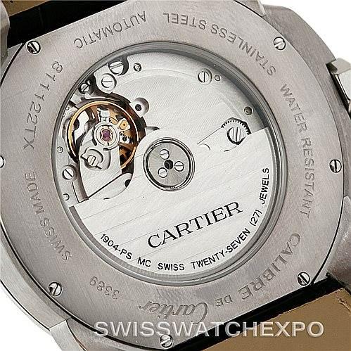 8210 Calibre De Cartier Steel Automatic Mens Watch W7100037 Unworn SwissWatchExpo