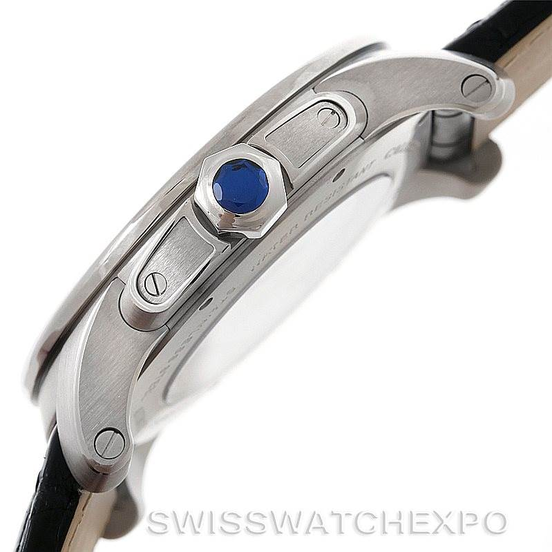 8453 Calibre De Cartier Steel Automatic Mens Watch W7100037 Unworn SwissWatchExpo