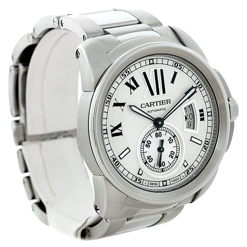 Cartier Calibre Stainless Steel Automatic Mens Watch W7100015 SwissWatchExpo