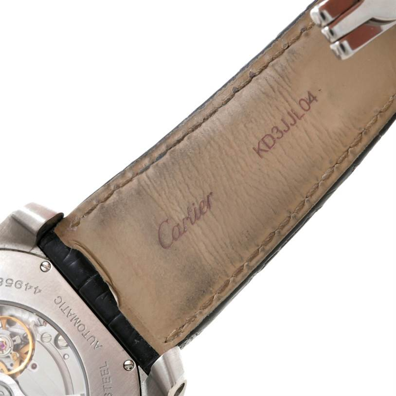 8520 Cartier Calibre Steel Automatic Mens Watch W7100014 SwissWatchExpo