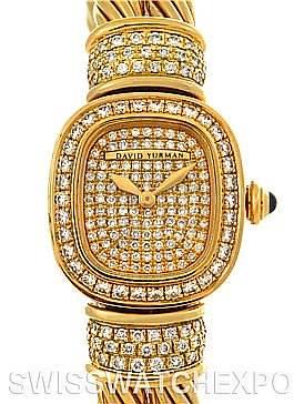 Photo of David Yurman Chelsea Cable 18K Yellow Gold 2.25 ct Diamond Watch