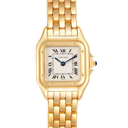 Photo of Cartier Panthere Small Yellow Gold Silver Dial Ladies Watch W25022B9 Box