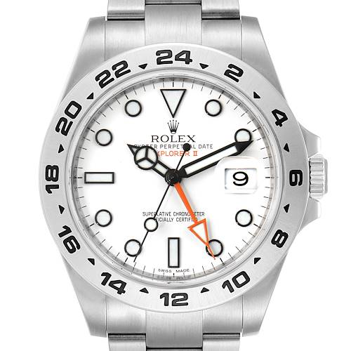 Photo of Rolex Explorer II 42 White Dial Orange Hand Mens Watch 216570 Box Papers