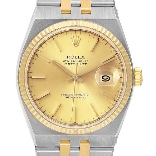 Photo of Rolex Oysterquartz Datejust 36mm Steel Yellow Gold Mens Watch 17013