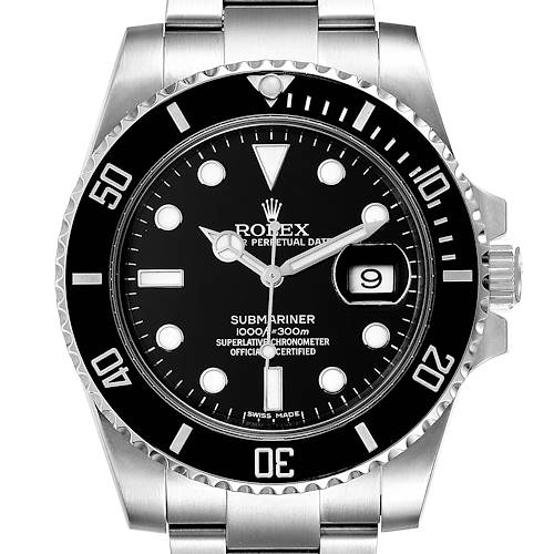 Photo of Rolex Submariner Ceramic Bezel Steel Mens Watch 116610 Box Card