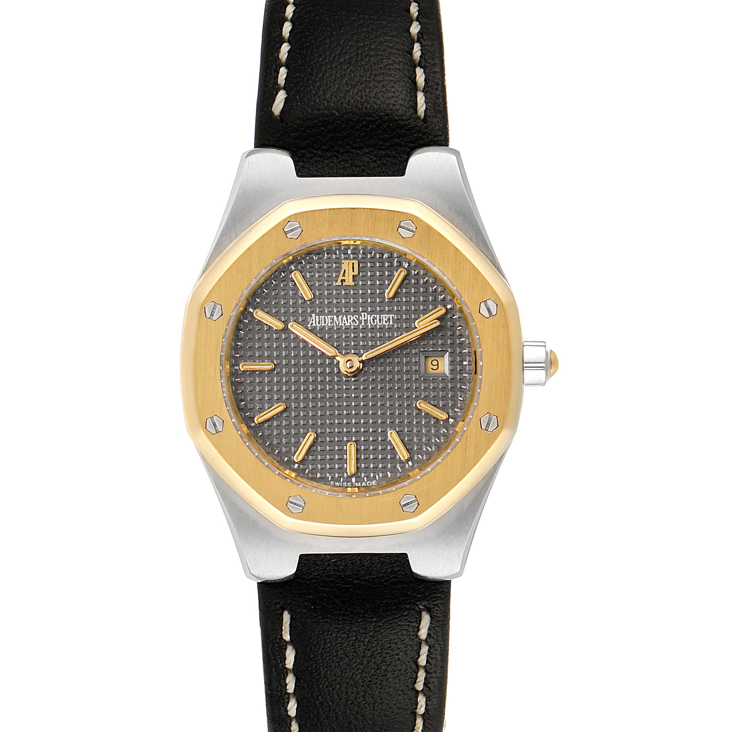 Audemars Piguet Royal Oak 28mm 18k Yellow Gold Steel Ladies Watch SwissWatchExpo