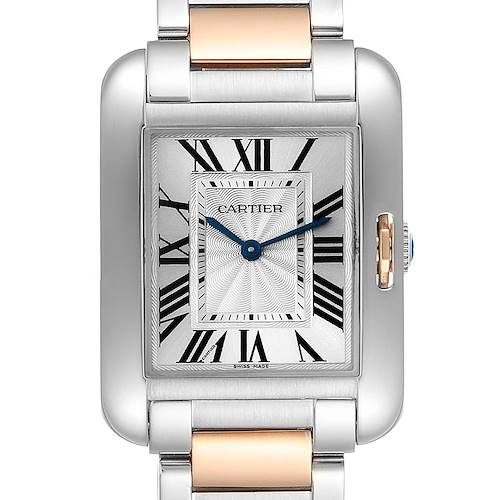 Photo of Cartier Tank Anglaise Medium Steel Rose Gold Ladies Watch W5310043