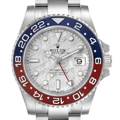 Photo of Rolex GMT Master II White Gold Meteorite Dial Pepsi Bezel Mens Watch 126719