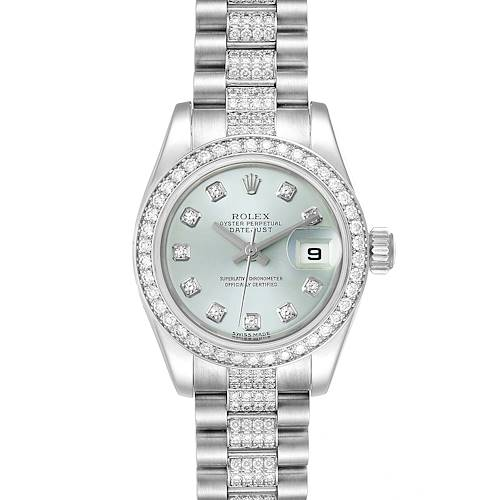 Photo of Rolex President Platinum Diamond Ladies Watch 179136 Unworn