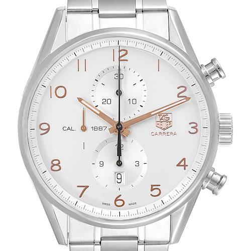 Photo of Tag Heuer Carrera Chronograph Silver Dial Mens Watch CAR2012