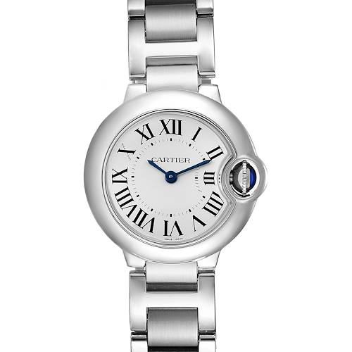 Cartier Ballon Blue 29 Silver Dial Quartz Steel Ladies Watch W69010Z4