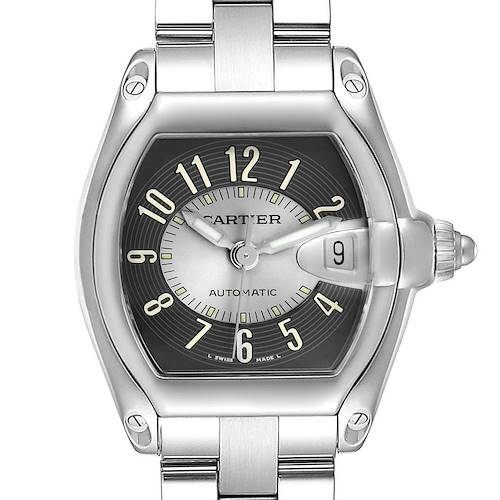 Photo of Cartier Roadster Grey Arabic Dial Steel Large Mens Watch W62004V3