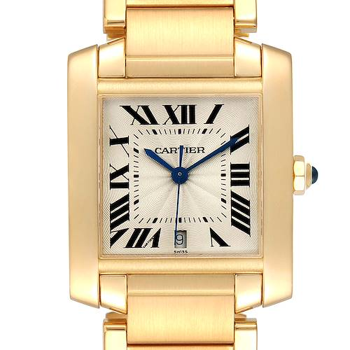 Photo of Cartier Tank Francaise Large Yellow Gold Mens Watch W50001R2 Box Papers