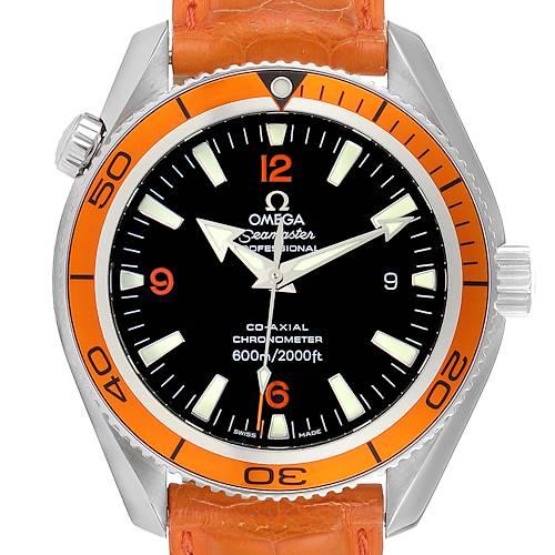Photo of Omega Seamaster Planet Ocean Orange Bezel Steel Watch 2909.50.38 Card