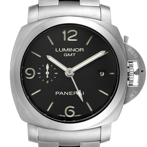 Photo of Panerai Luminor 1950 3 Days GMT 44mm Watch PAM00329 Box Papers
