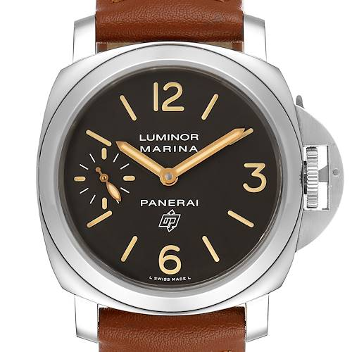 Photo of Panerai Luminor Acciaio Logo Tropical Brown Dial 44mm Watch PAM00632 Box Papers