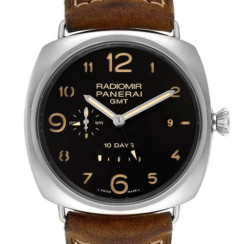 Photo of Panerai Radiomir Acciaio 47mm 10 Days GMT Steel Watch PAM00473 Box Papers