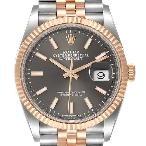 Photo of Rolex Datejust 36 Rhodium Dial Steel EverRose Gold Watch 126231 Unworn