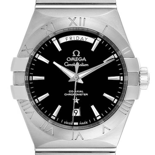 Omega Constellation Day-Date Steel Mens Watch 123.10.38.22.01.001 Card