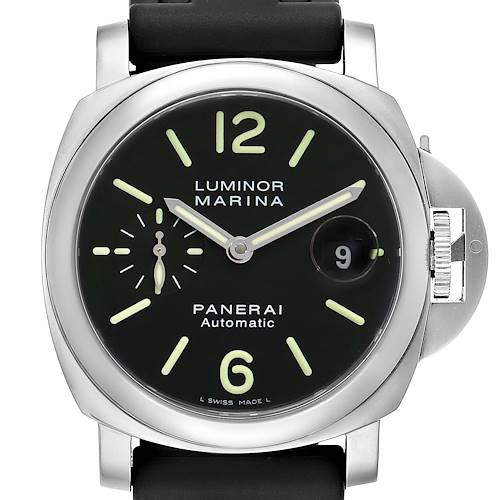 Photo of Panerai Luminor Marina Automatic 44mm Steel Mens Watch PAM00104 Box Papers