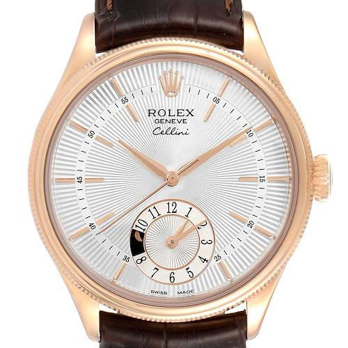 Photo of Rolex Cellini Dual Time Everose Rose Gold Automatic Mens Watch 50525