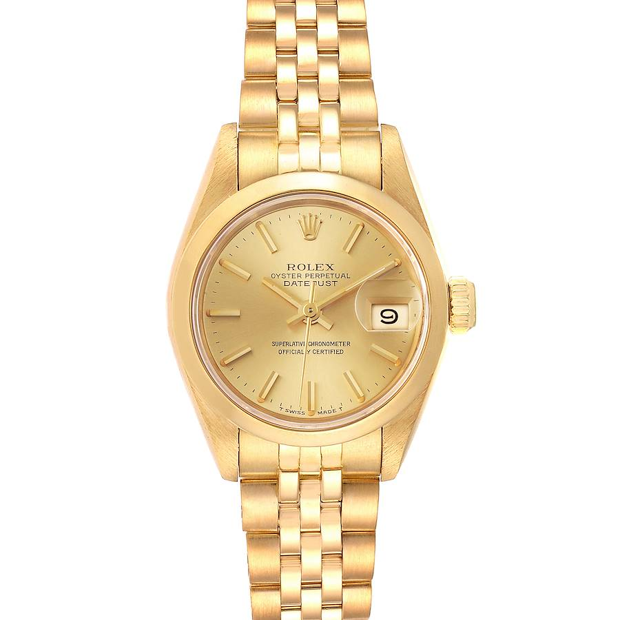 Rolex President Datejust 18k Yellow Gold Ladies Watch 69168 SwissWatchExpo