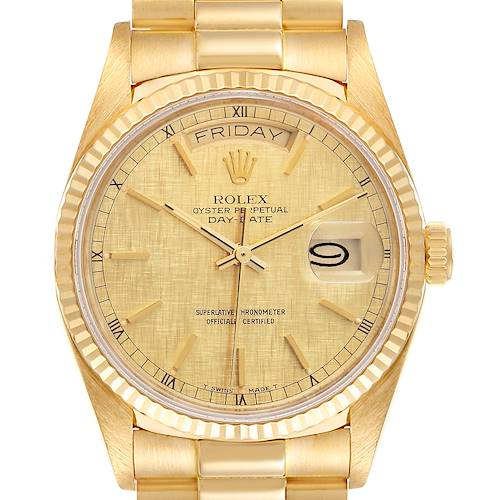 Photo of Rolex President Day-Date 36mm Yellow Gold Mens Watch 18038