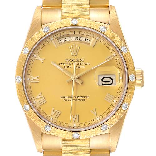 Photo of Rolex President Day-Date Yellow Gold Diamond Mens Watch 18108