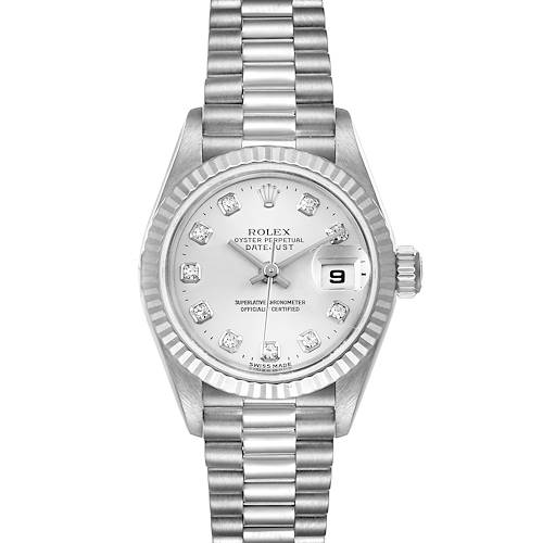 Photo of Rolex President Ladies White Gold Diamond Ladies Watch 79179