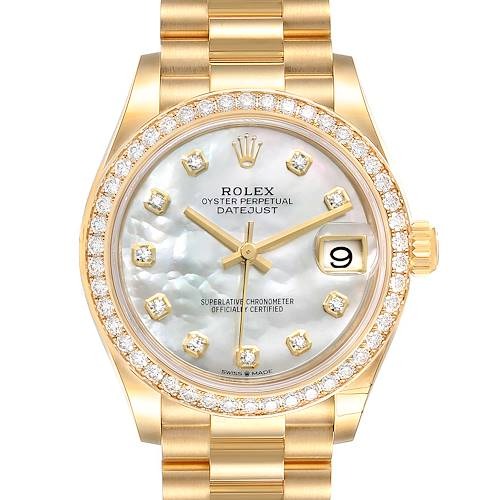 Photo of Rolex President Midsize Yellow Gold Diamond Ladies Watch 278288 Unworn