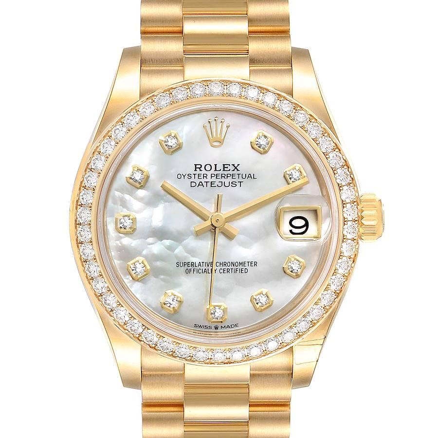 Rolex President Midsize Yellow Gold Diamond Ladies Watch 278288 Unworn SwissWatchExpo