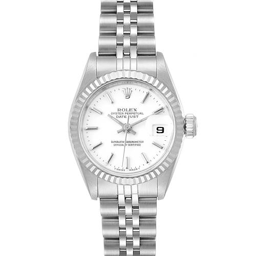 Photo of Rolex Datejust 26 Steel White Gold White Dial Ladies Watch 69174