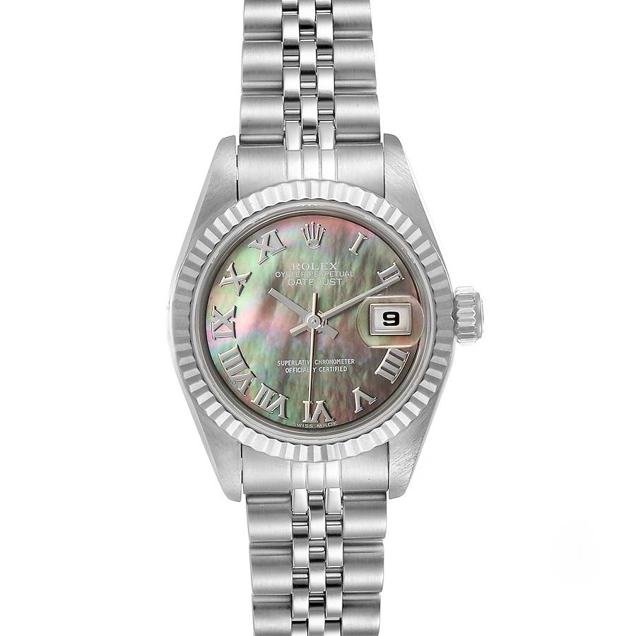Rolex Datejust Steel White Gold Mother of Pearl Ladies Watch 69174  SwissWatchExpo