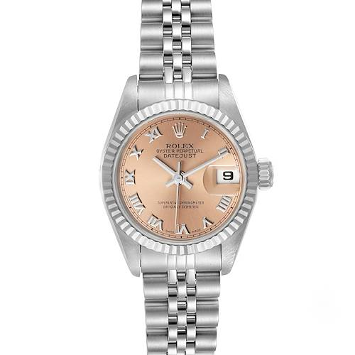 Photo of Rolex Datejust Steel White Gold Salmon Dial Ladies Watch 69174