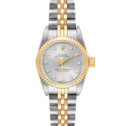 Photo of Rolex Oyster Perpetual Steel Yellow Gold Diamond Ladies Watch 67193